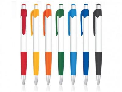 Plastična hemijska olovka sa mekim, gumiranim gripom (301486)