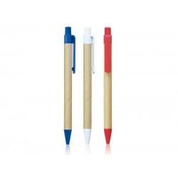 Hemijska olovka od recikliranog papira sa plastičnom klipsom (301715)