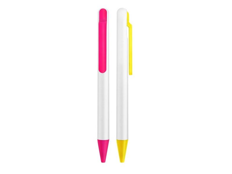 Plastična hemijska olovka sa mehanizmom aktiviranja na klipsi (301718)
