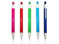 Plastična hemijska olovka sa klipsom i vrhom u beloj boji (301731)