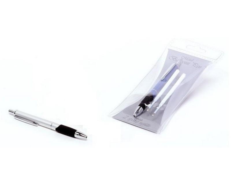 Metalna hemijska olovka sa 2 mine (312297)