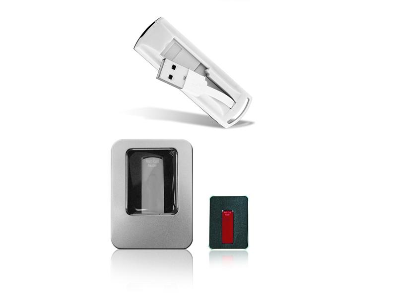 USB Čitač memorijskih kartica u metalnoj kutiji (262680-1)