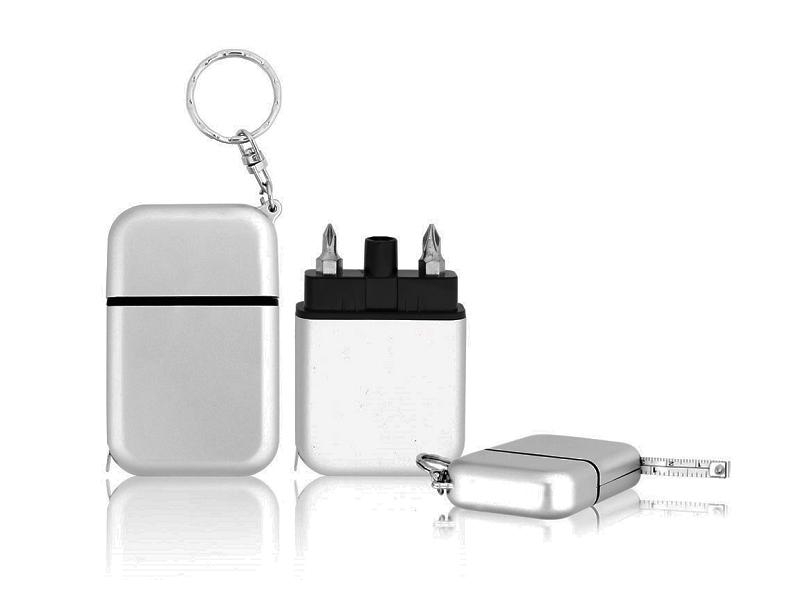 Plastični privezak za ključeve sa metrom u obliku seta za alat (362868)