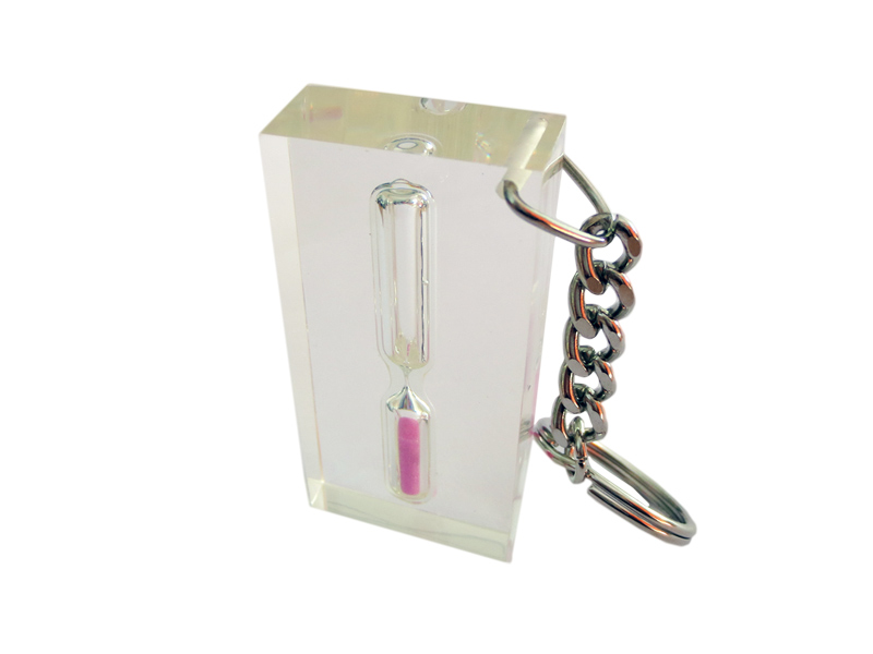 Plastični privezak za ključeve u obliku peščanog sata (362888)