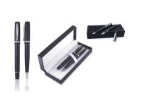Metalna hemijska i roler olovka u kutiji od eko kože (312985)