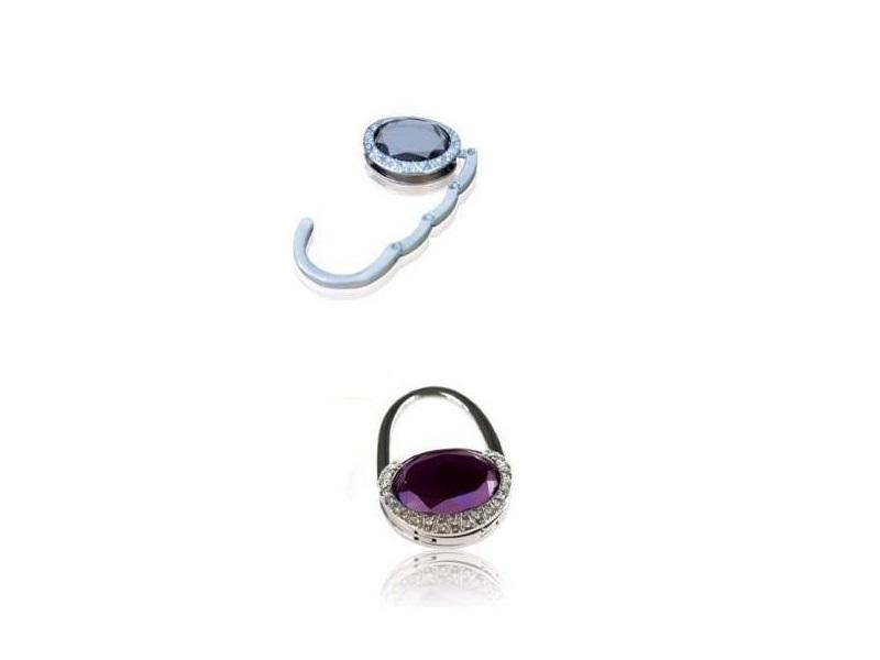Elegantni metalni držač za torbu sa kristalom na vrhu (364244-1)