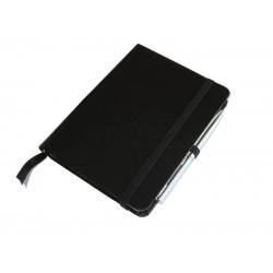 Džepni A6 notes sa olovkom, tvrde korice, 200 strana na linije, crni (324314-1)