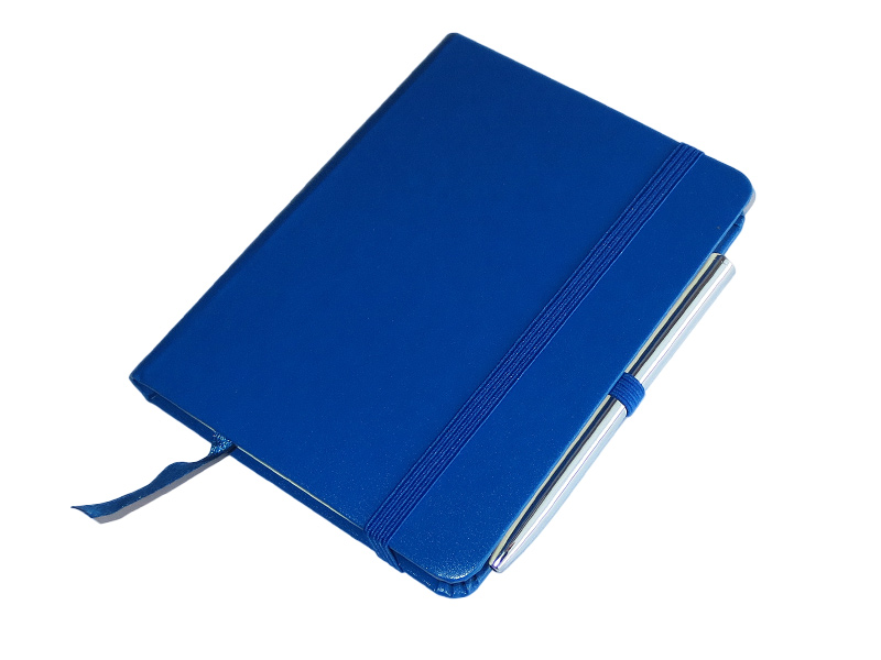 Džepni A6 notes sa olovkom, tvrde korice, plavi (324314-1)
