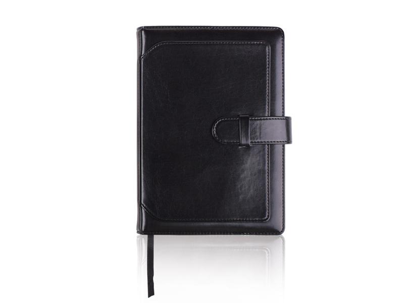A5 agenda (rokovnik), korice od eko kože sa kopčom, crni (324328)
