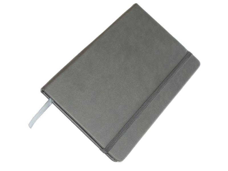 Rokovnik JCC trend, PU tvrde korice, pozadi džep, sivi (324332)