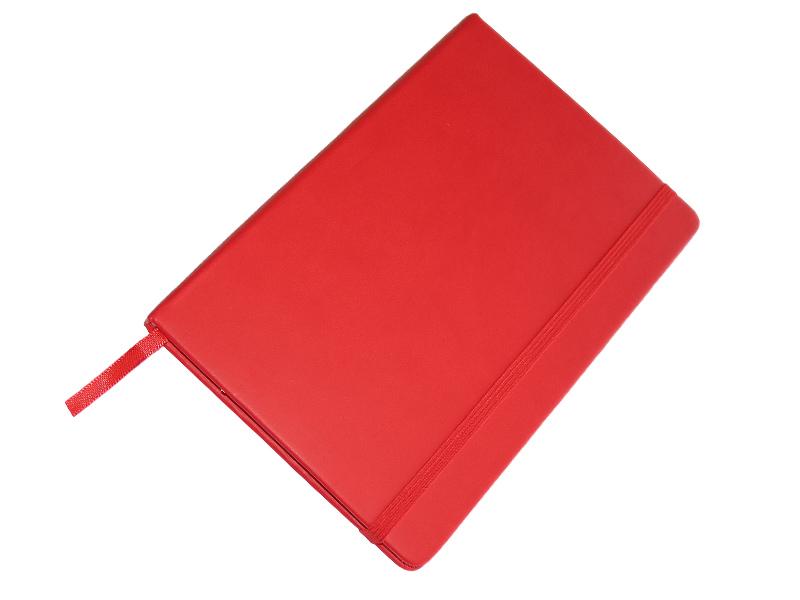 JCC trend dnevnik (rokovnik), tvrde korice, pozadi džep, crveni (324332)
