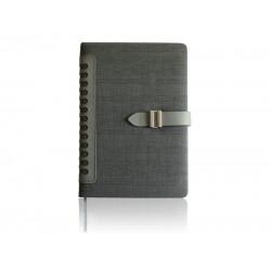 Elegantna A5 agenda (rokovnik) bez datuma, termo PU mekane korice, siva (324347)