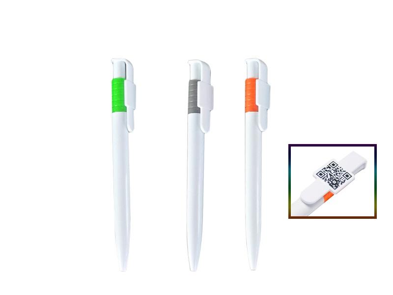 Plastična hemijska olovka sa kvadratom na klipsi za štampu (301733)