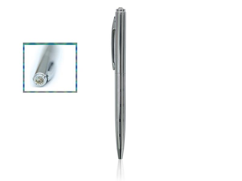 Metalna hemijska olovka,okretni mehanizam, cirkon (312994)