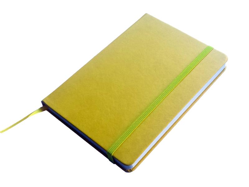 JCC trend dnevnik bez datuma, PU tvrde korice, pozadi džep, žuti (324332)